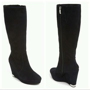 Vince Camuto 'Kessia' Knee High Suede Wedge Boots